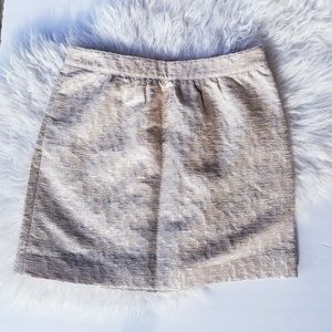 Loft metallic mini skirt 4